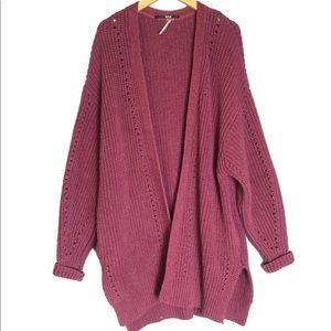 Free People Nightingale Oversized Knit Cardigan